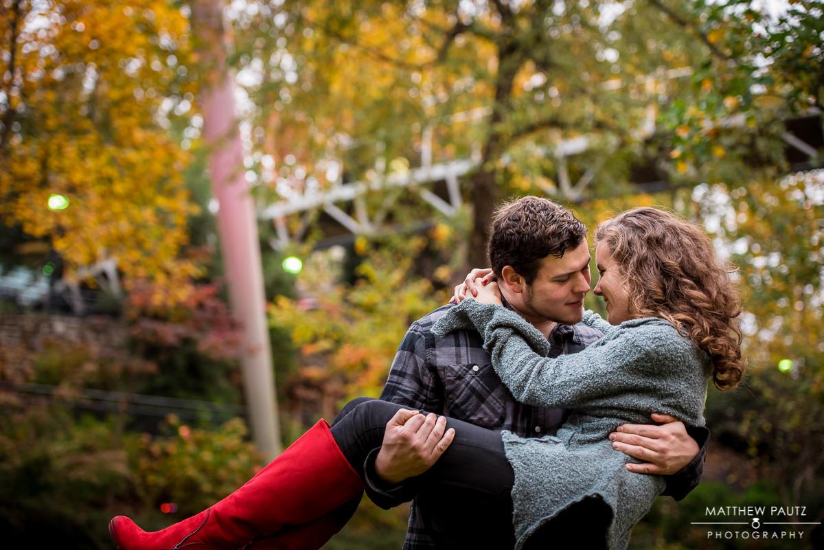 Falls Park in Fall