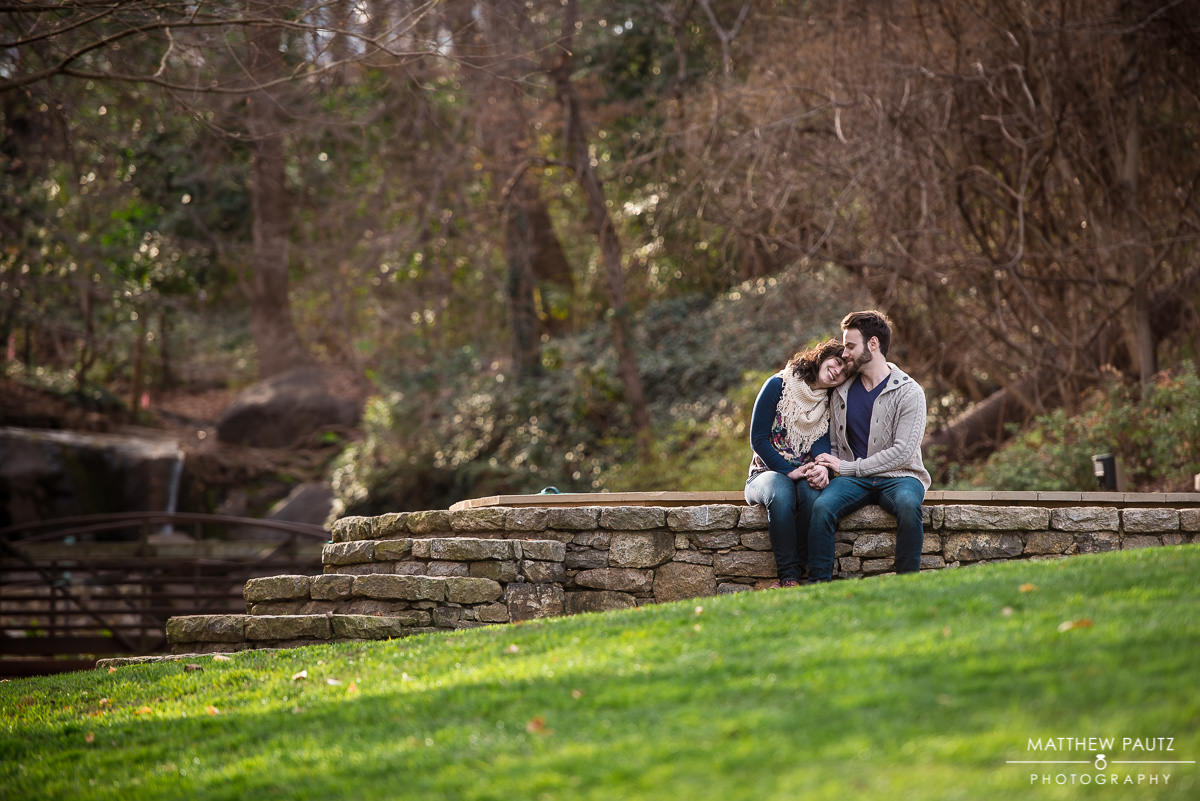 Engagement photos in Falls Park