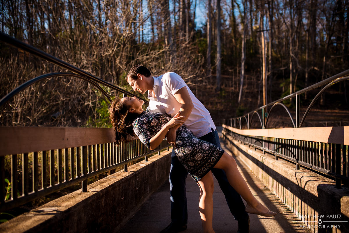 Engagement photos in Cleveland Park, Greenville