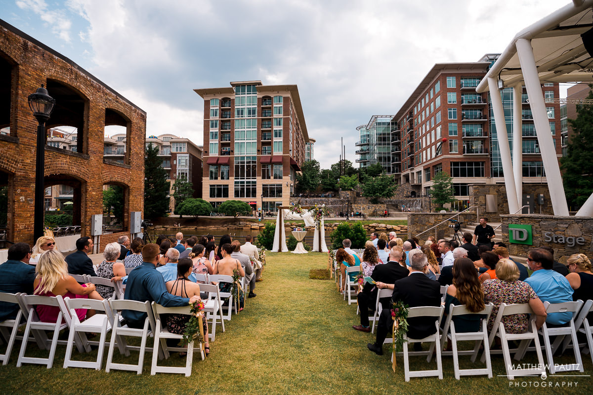 Wyche pavilion wedding ceremony photos