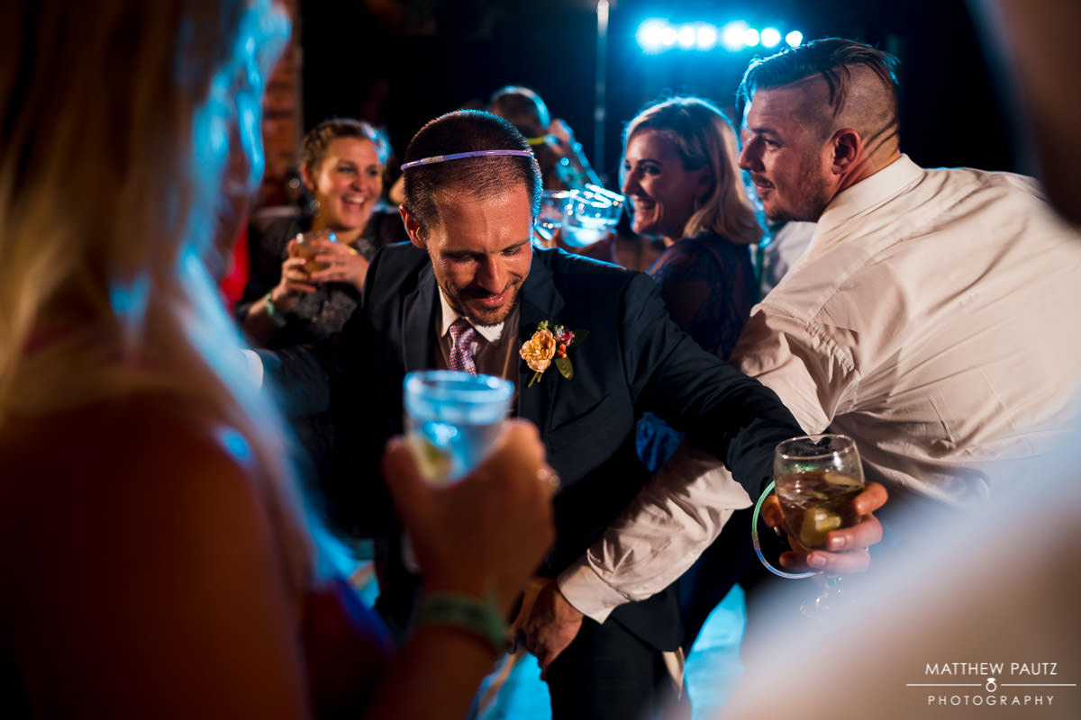 groom dancing at wyche pavilion wedding
