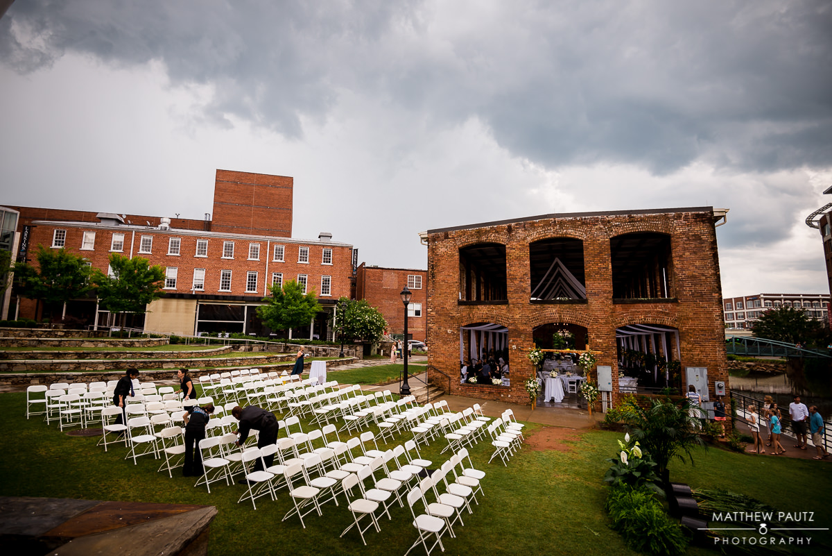 Downtown Greenville Wyche Pavilion Wedding Photos Photographers