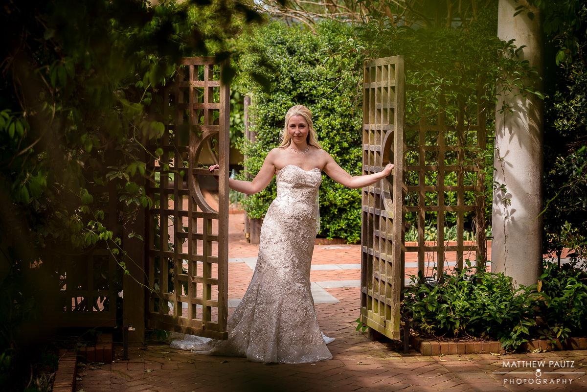 Daniel Stowe Botanical Gardens Bridal Photos