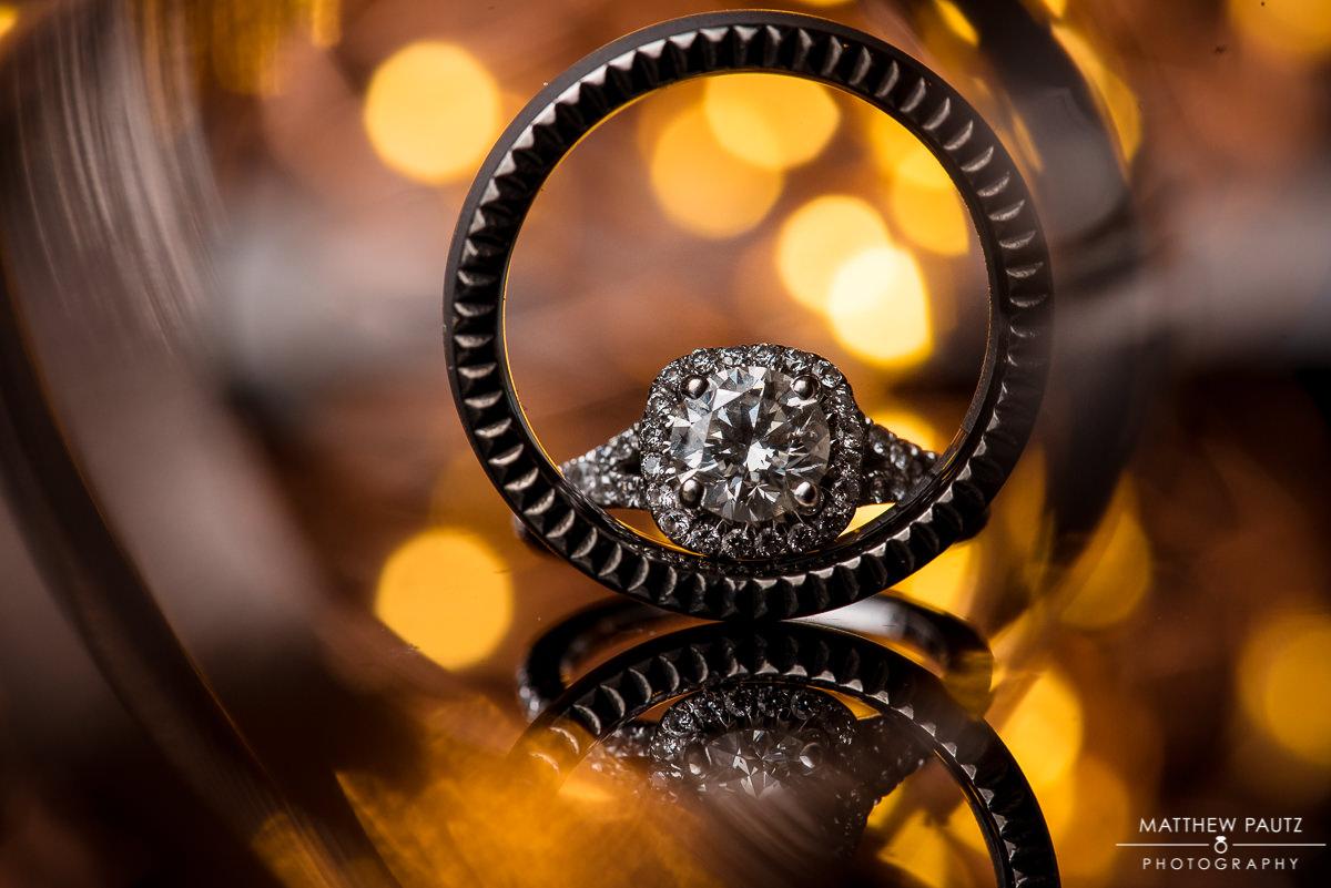 Wedding photography ring photo