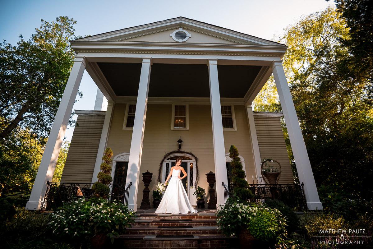bridal portrait at southern mansion