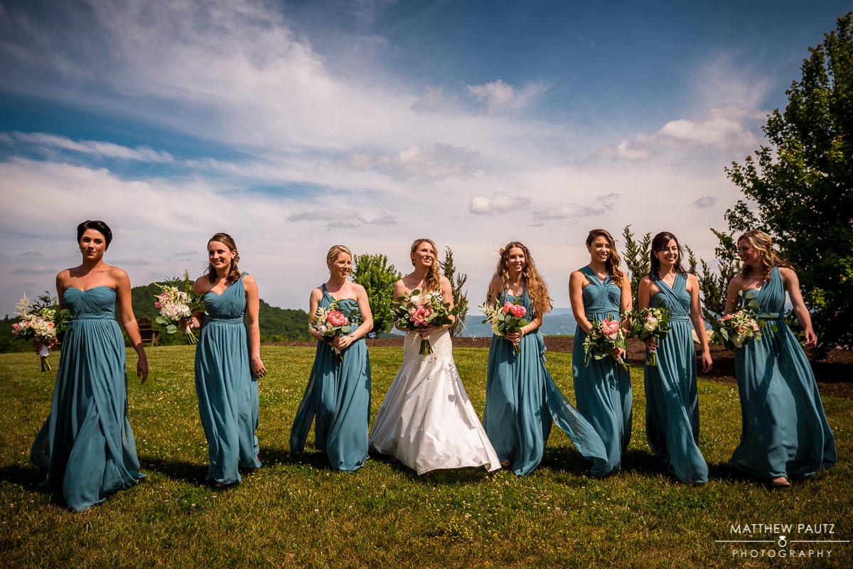 asheville wedding photographers | wedding party group photos