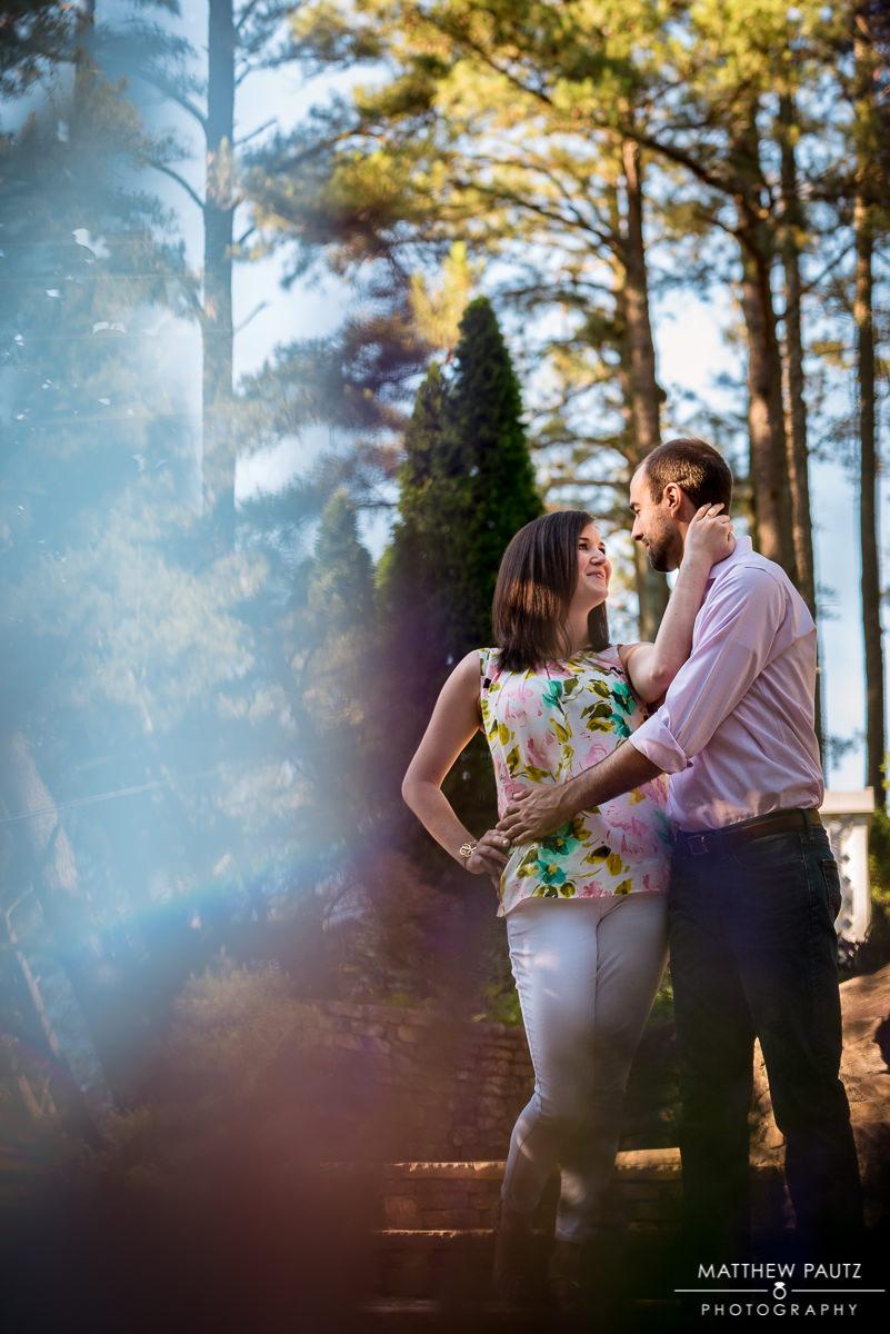 Clemson Botanical Gardens engagement photos