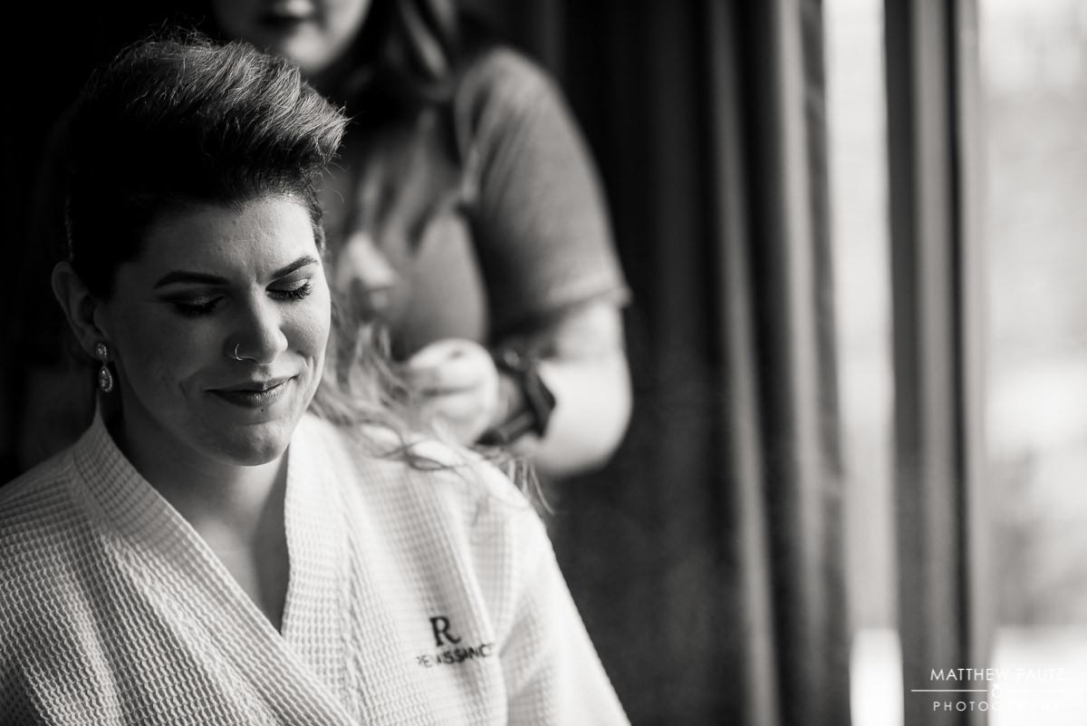 Renaissance Asheville Hotel Wedding Photos | Bride getting ready for wedding