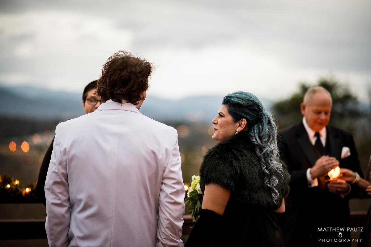 Crest Center Asheville Deck Wedding Ceremony