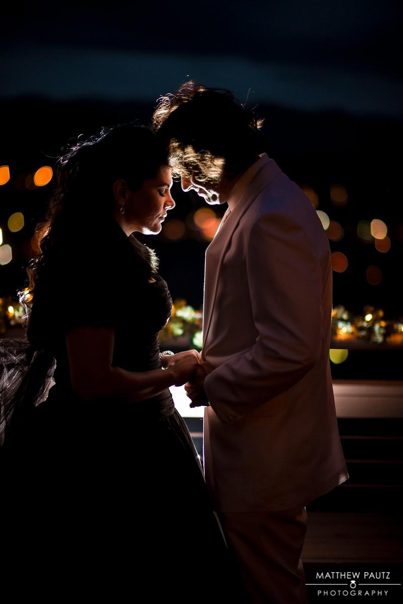 Asheville Night wedding photos
