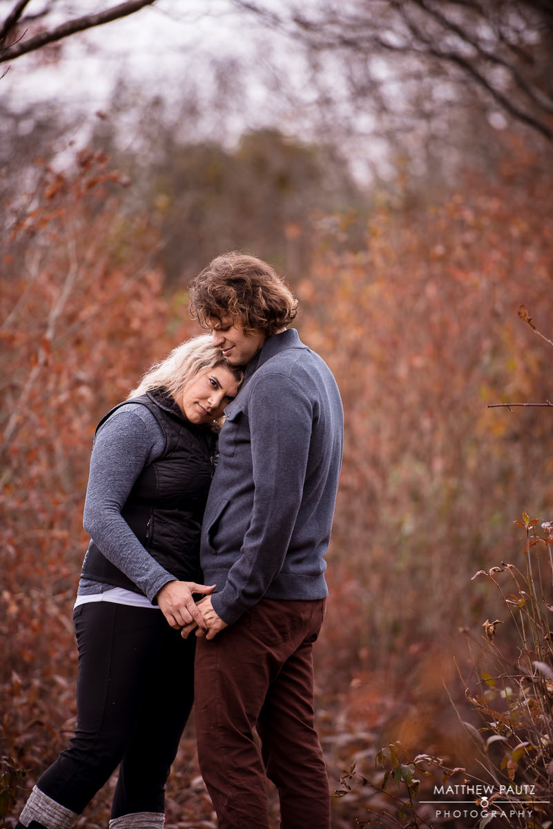 Fall mountain engagement photos at Graveyard Fields, NC