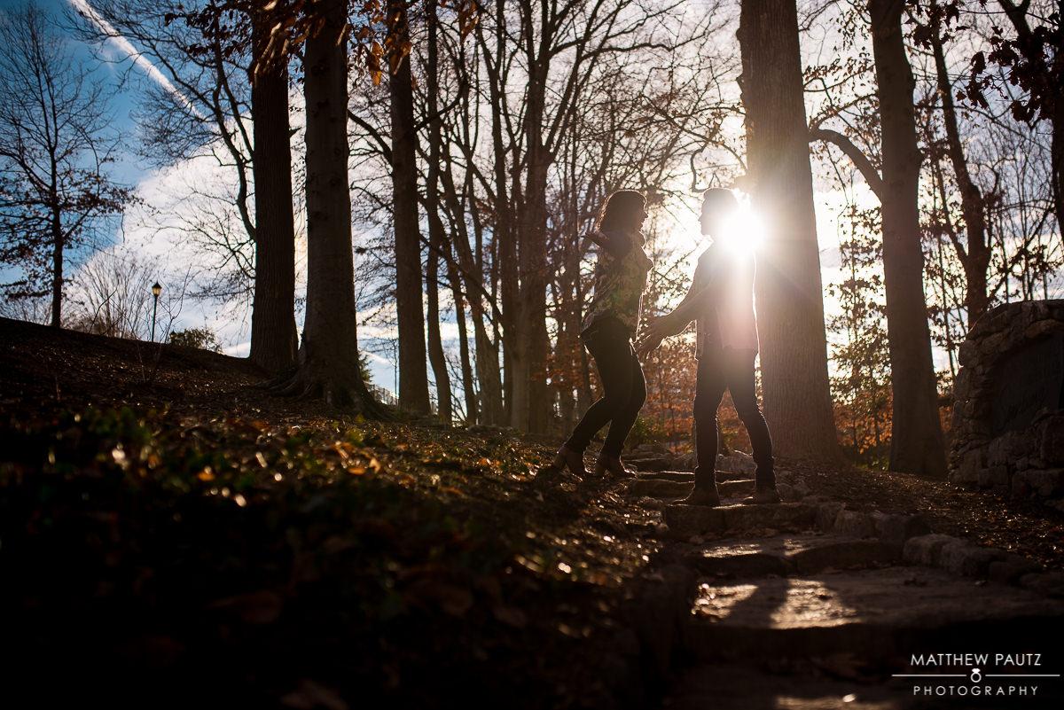 Falls Park engagement photos