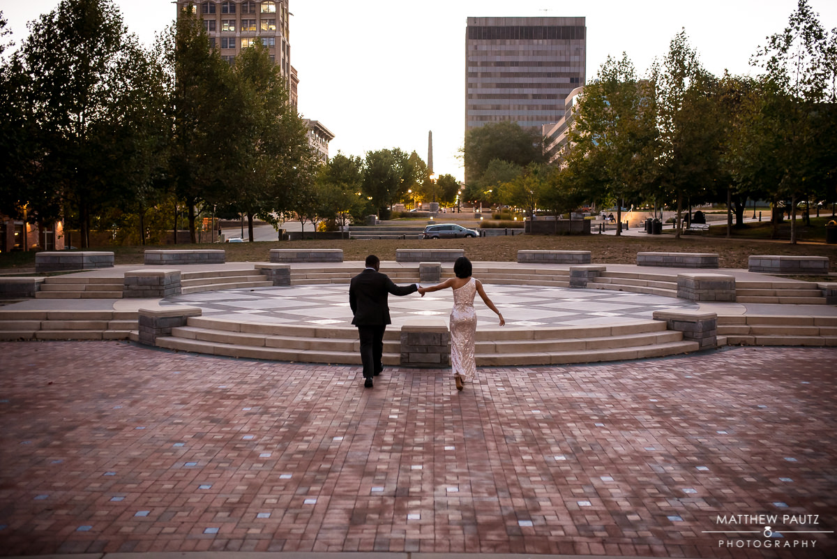 Pack Square Park Engagement Photos