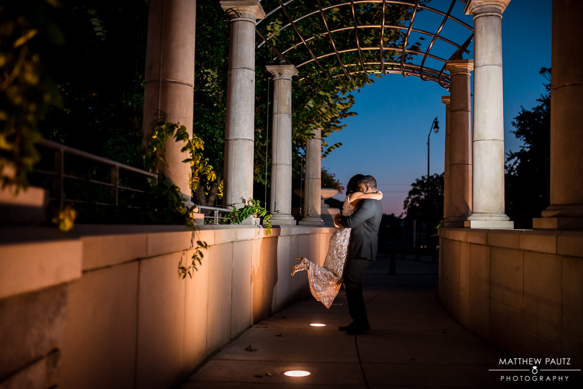 Night engagement photos in Asheville nc