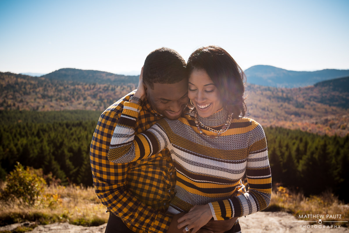Mountain engagement photos at the Blue Ridge Parkway in NC