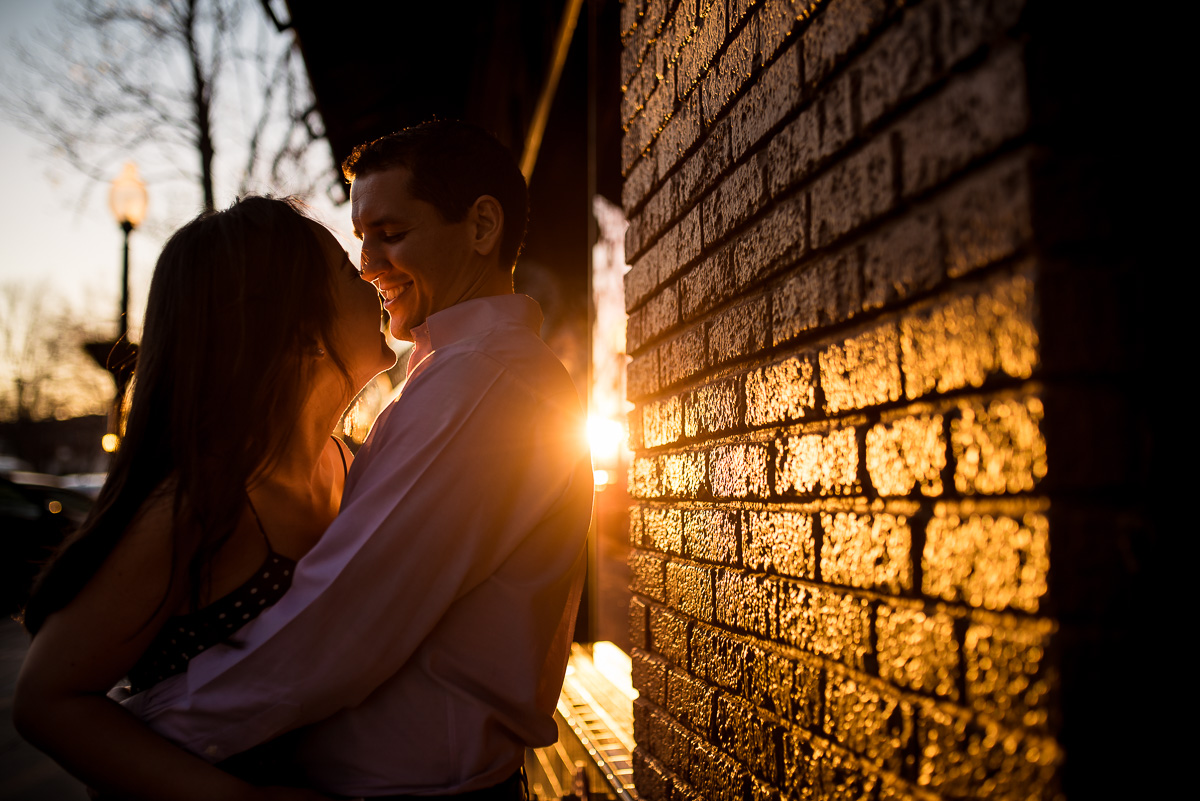 Spring engagement photos in downtown greenville sc