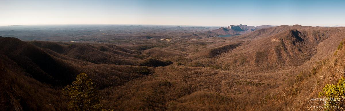 panorama photo of caesars head overlook