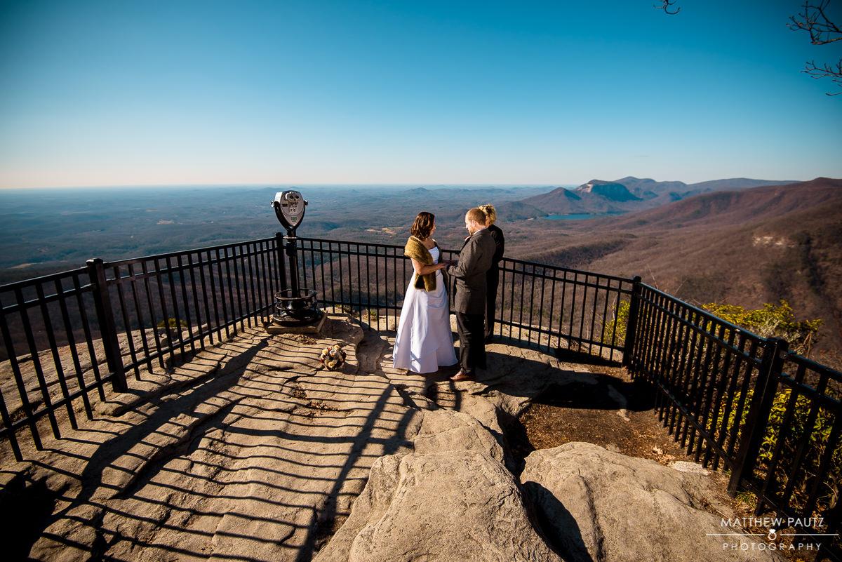 caesars head overlook elopement photography