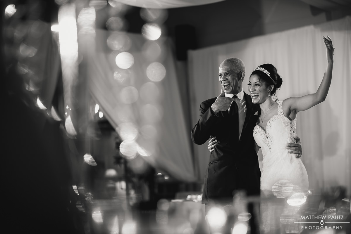 Bride and her father at crest center reception