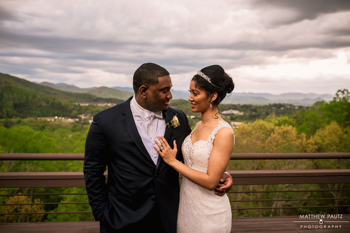 Crest Center wedding photos in asheville