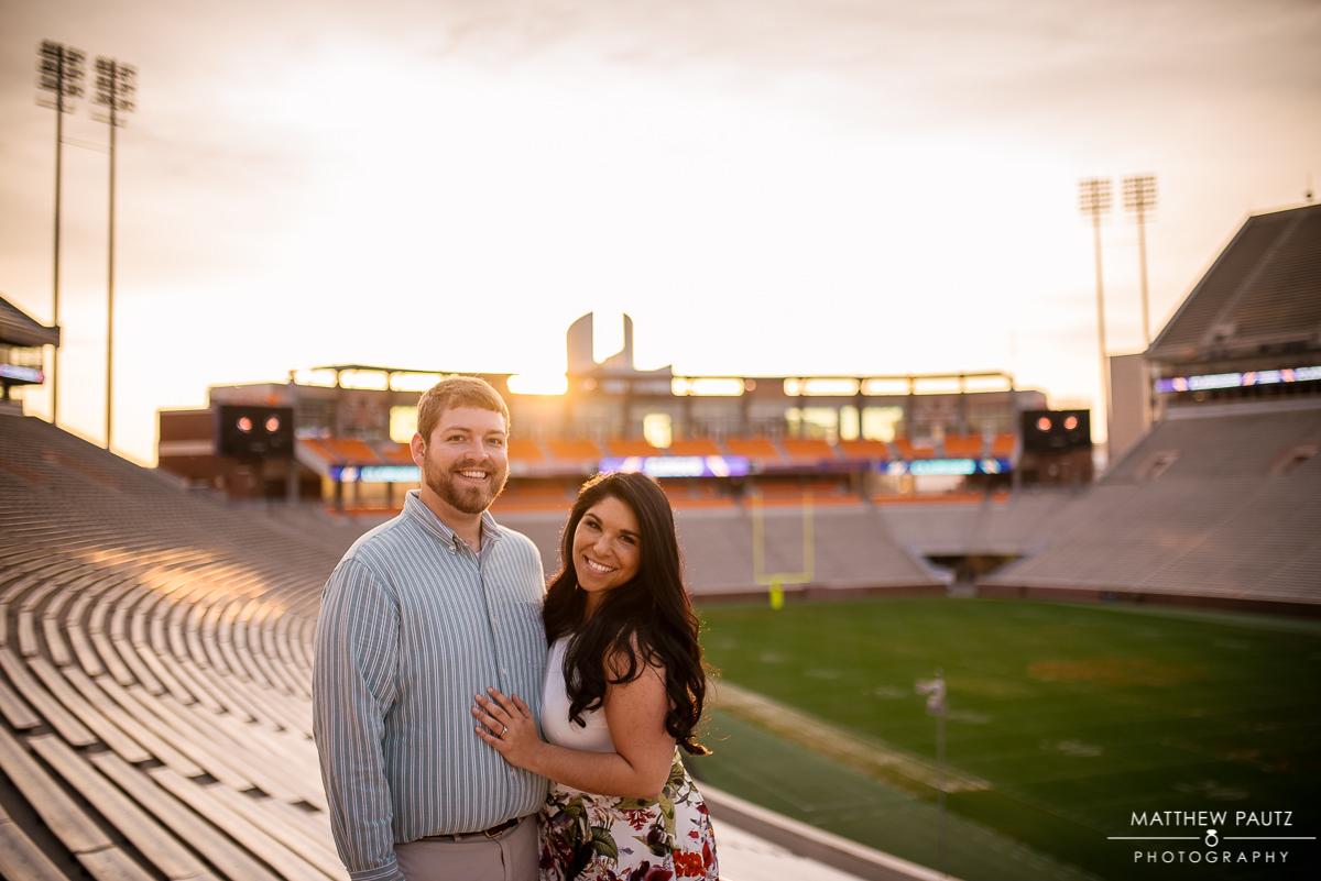 Clemson stadium engagement photos