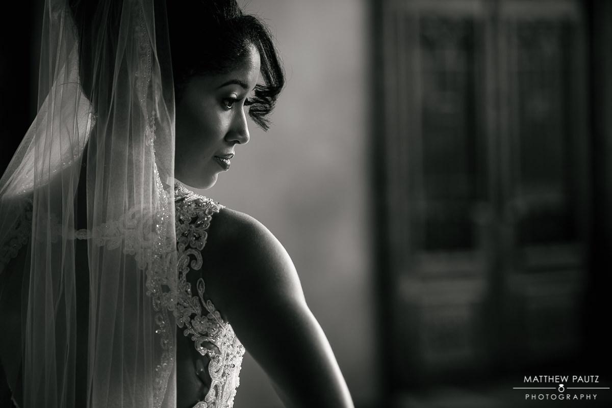 Closeup bridal portrait