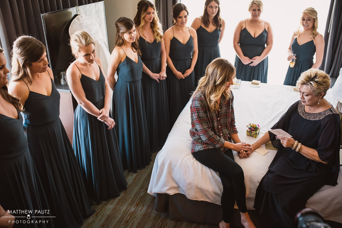 Mother of bride reads letter before wedding in Greenville SC