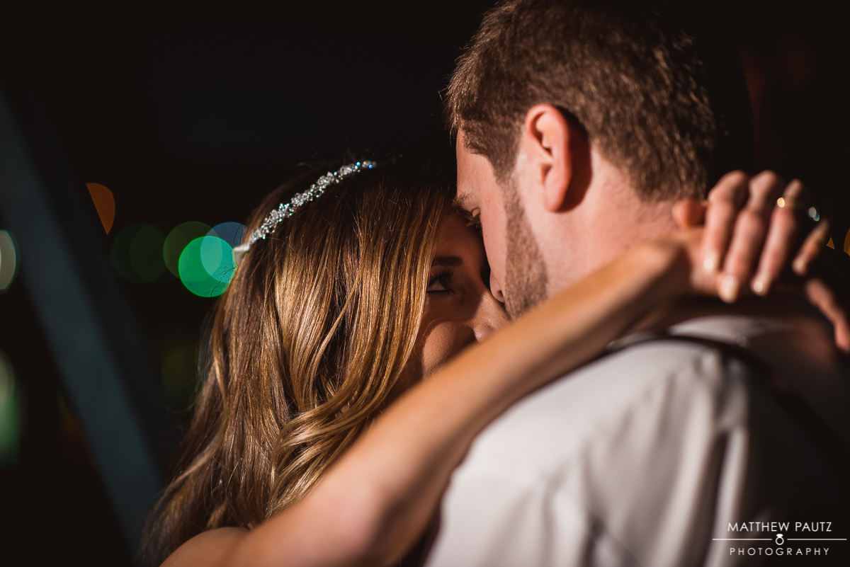 Night wedding photos in Greenville SC