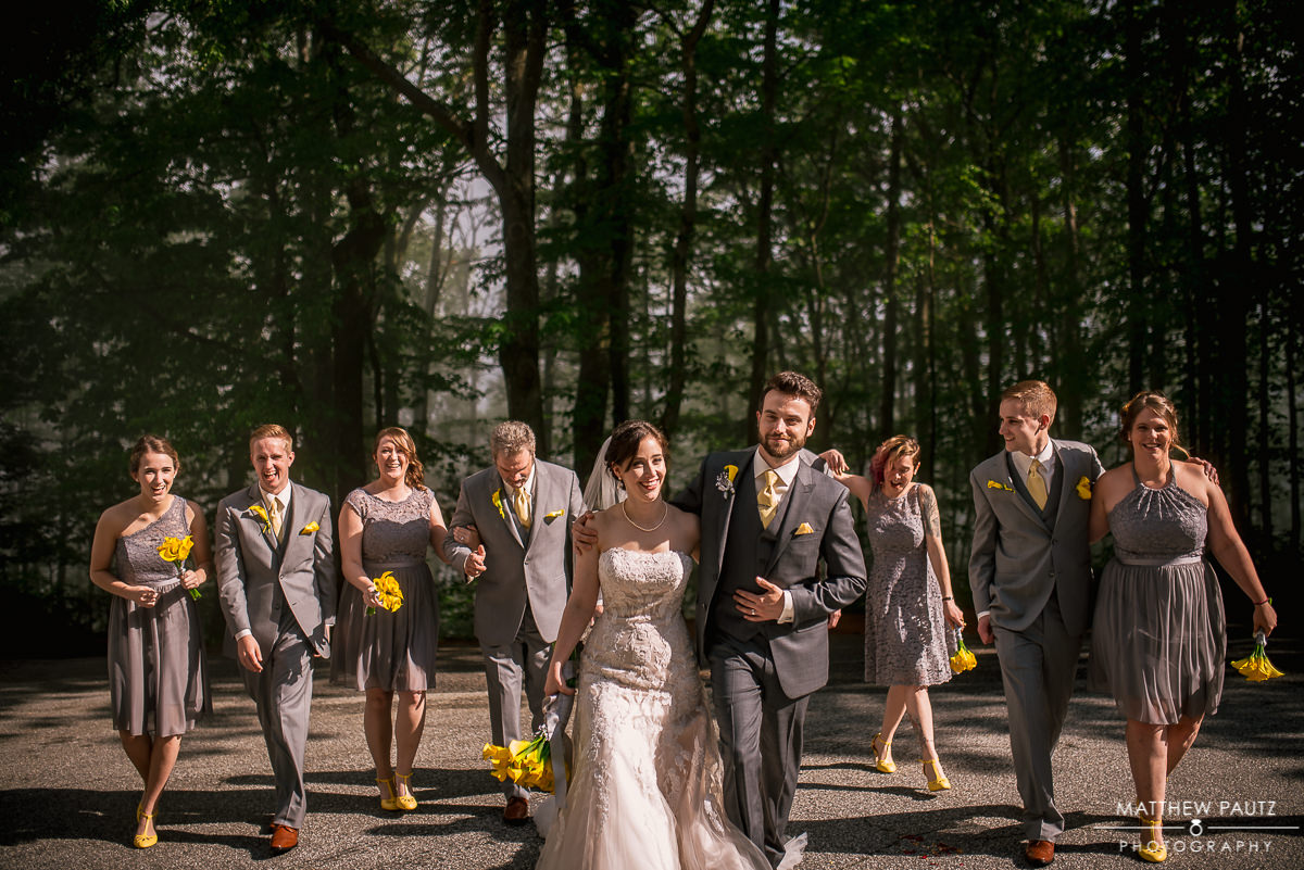 Wedding party group at Pretty Place Chapel