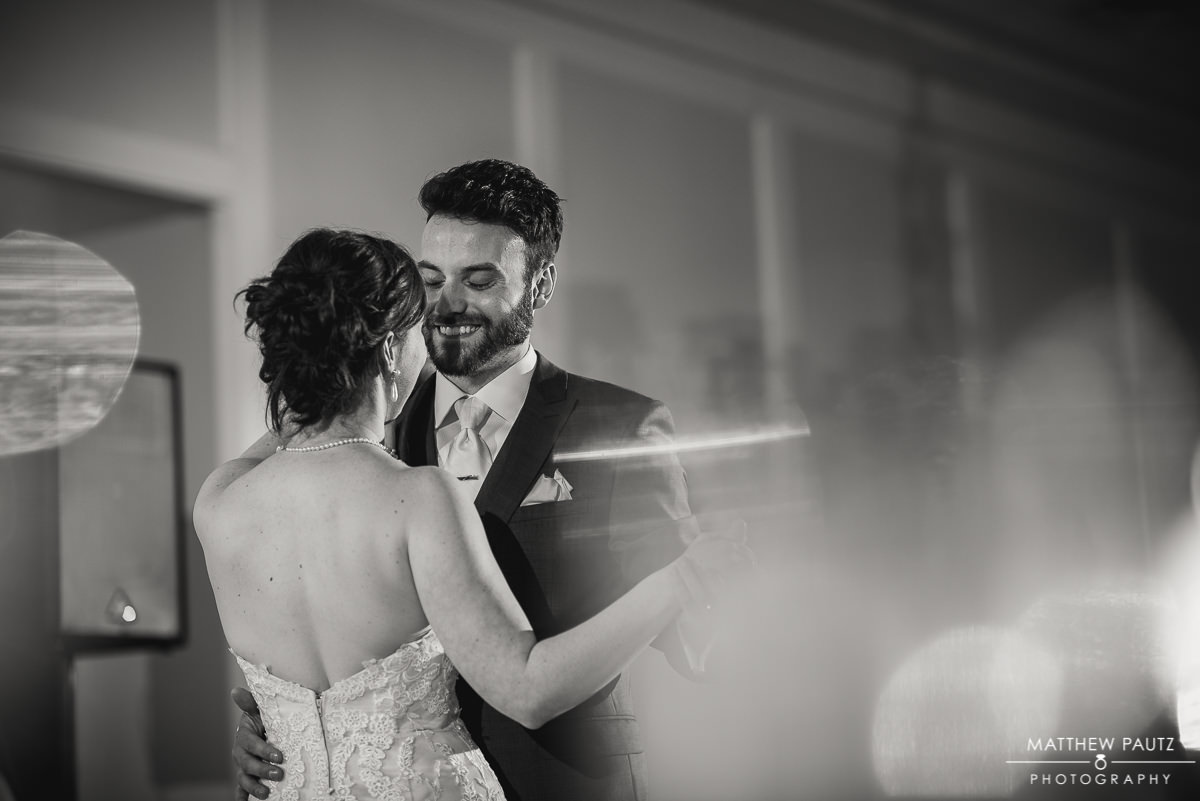 Bride and groom first dance at Green Valley Country Club