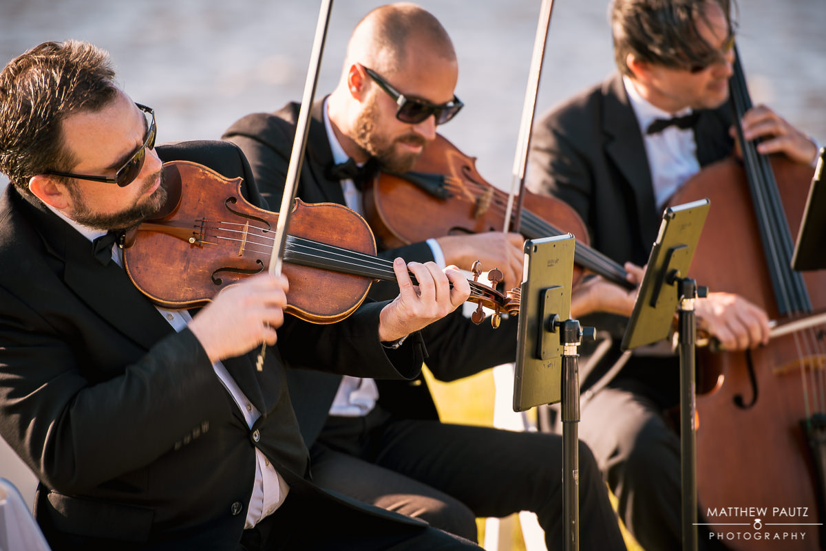 String quartet playing at wedding