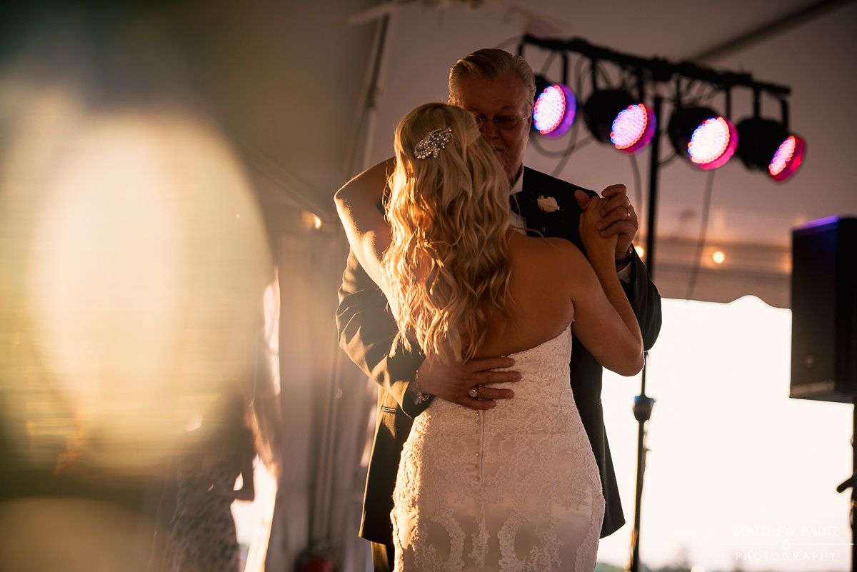Bride dancing with her father at reception