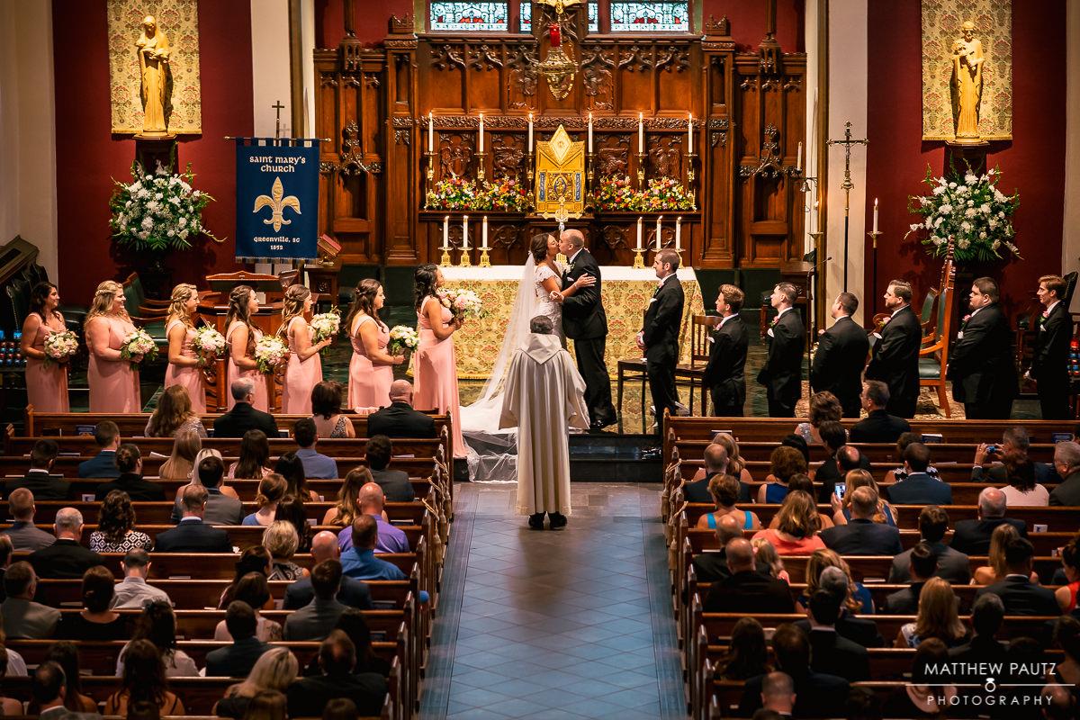 wedding at st marys catholic church