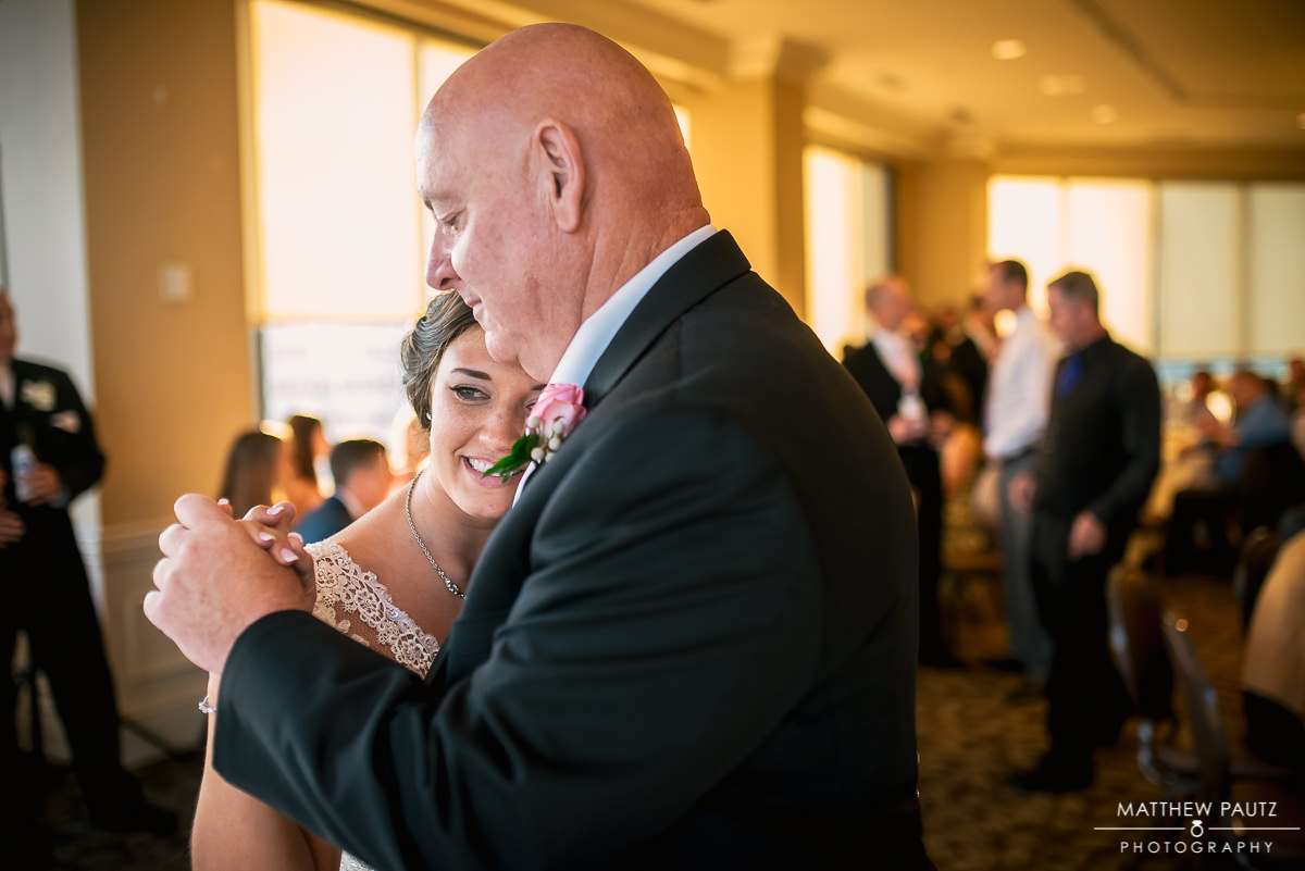 bride dancing with her father at The Commerce Club in Greenville