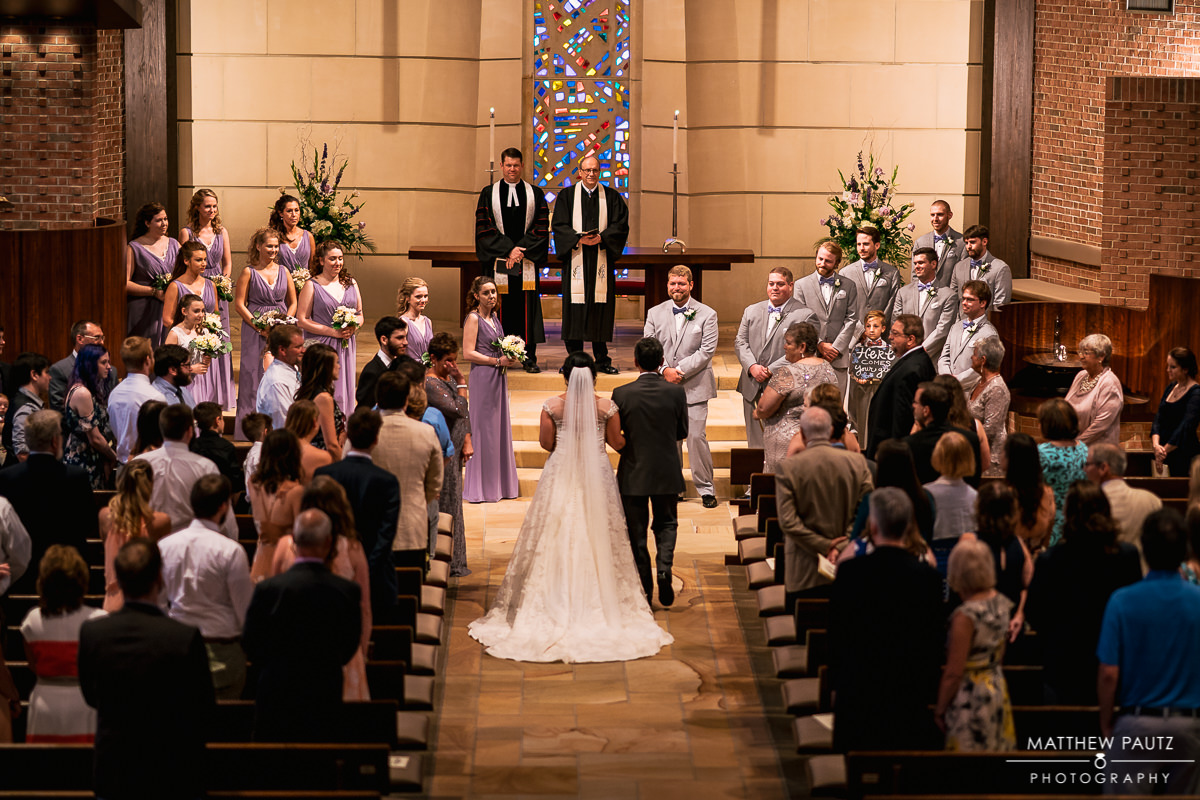 Wedding ceremony at Westminster Presbyterian Church