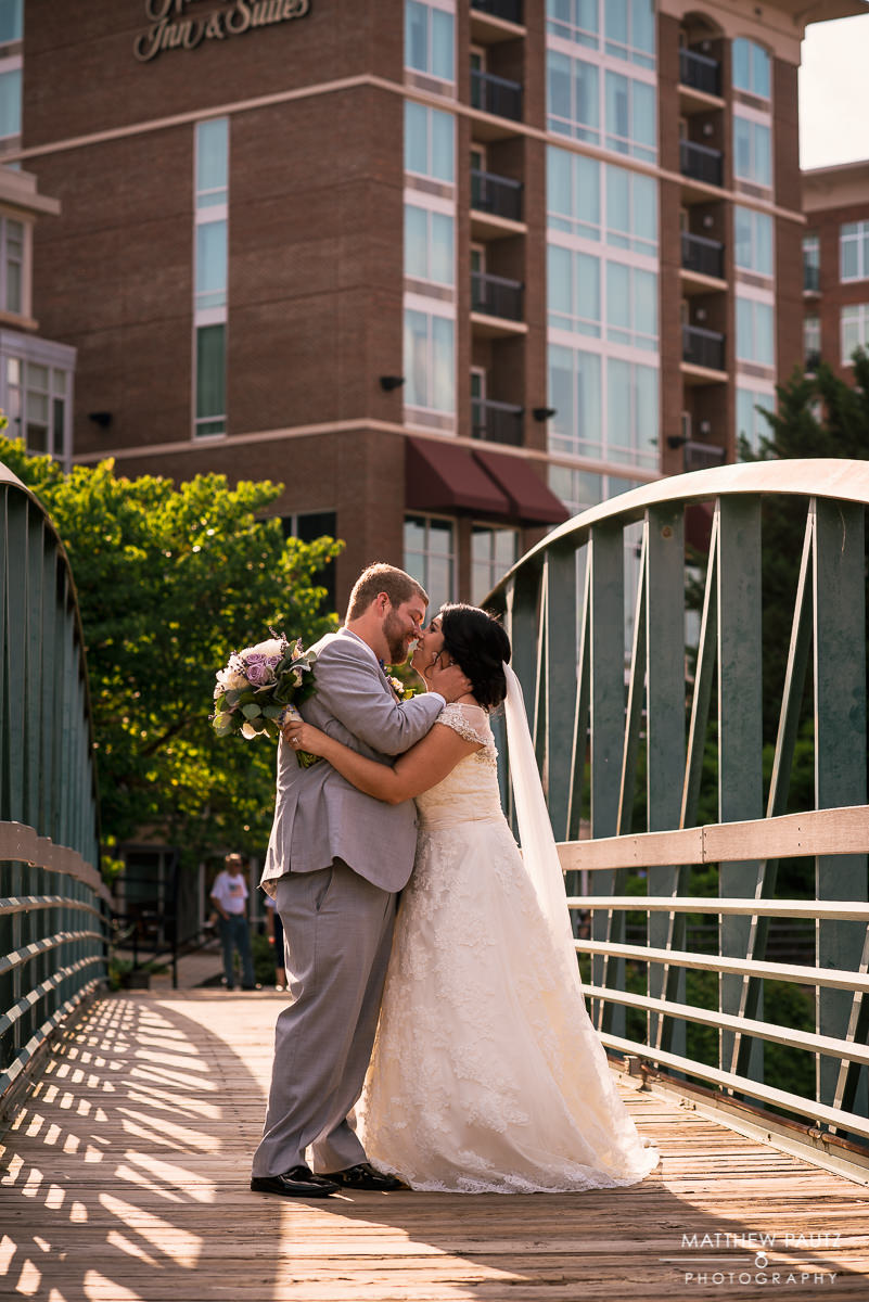 Falls Park wedding photos, greenville SC