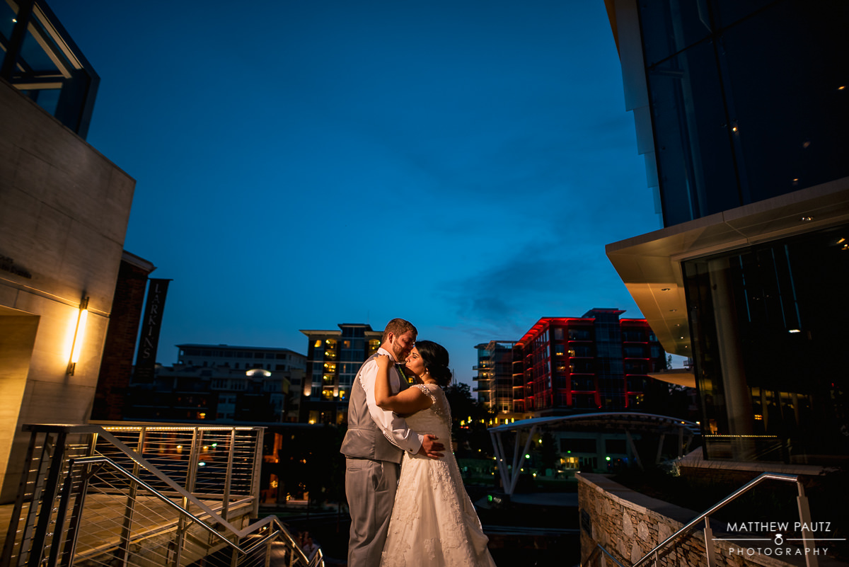 Wedding in downtown Greenville Sc Wyche Pavilion