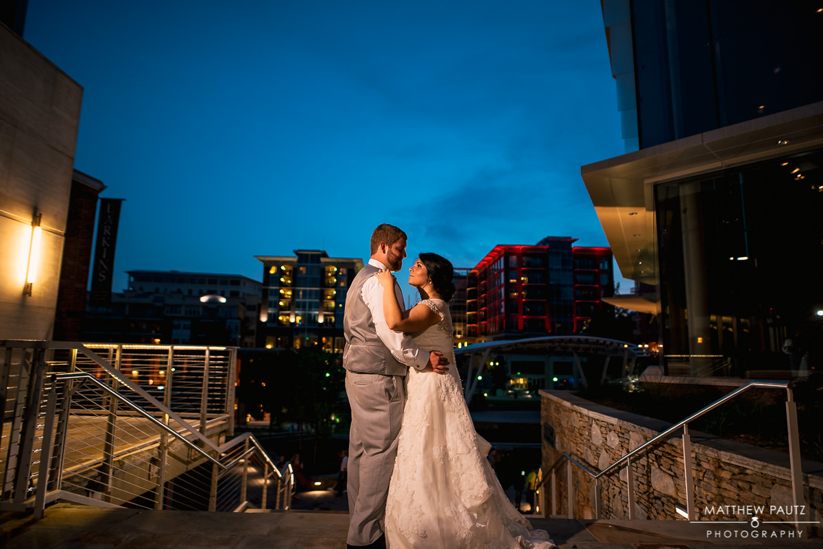 Downtown Greenville wedding photos