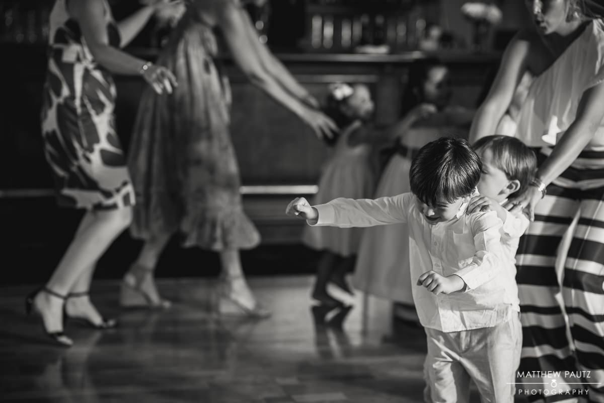 children dancing and having fun at wedding reception
