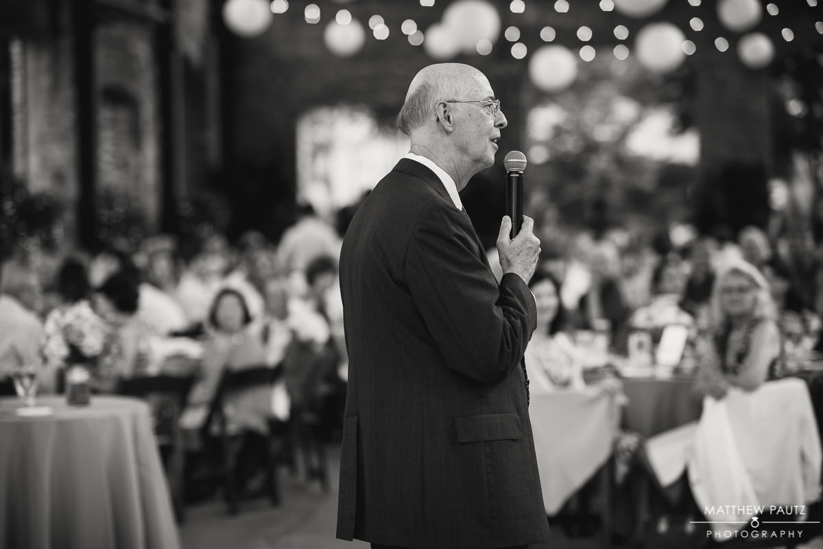 reception toasts by father of groom
