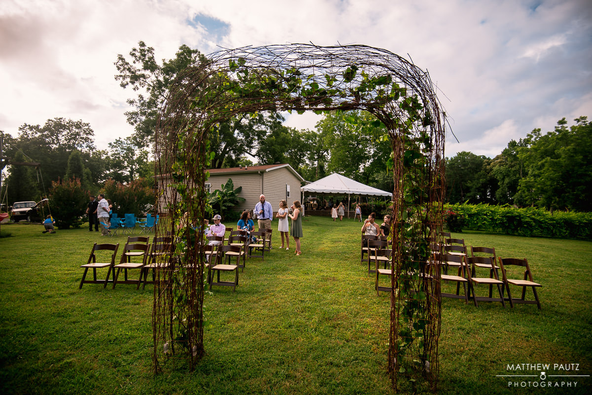 Wedding Ceremony at City Scape Winery