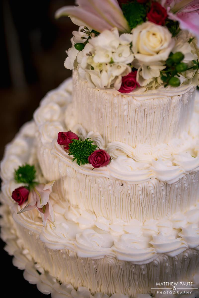 closeup of delicious wedding cake