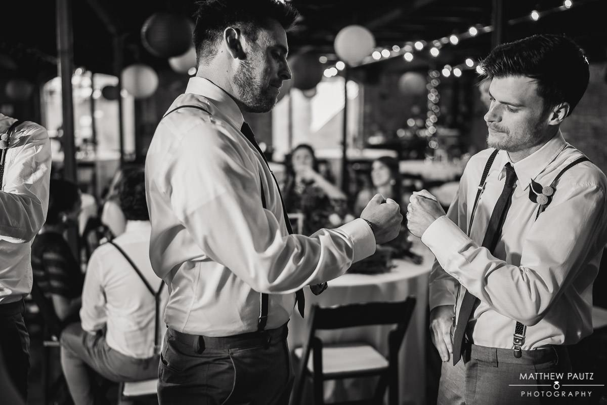 groomsmen goofing off