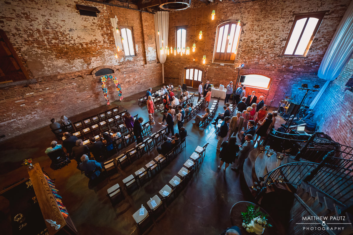 The Old Cigar Warehouse wedding ceremony