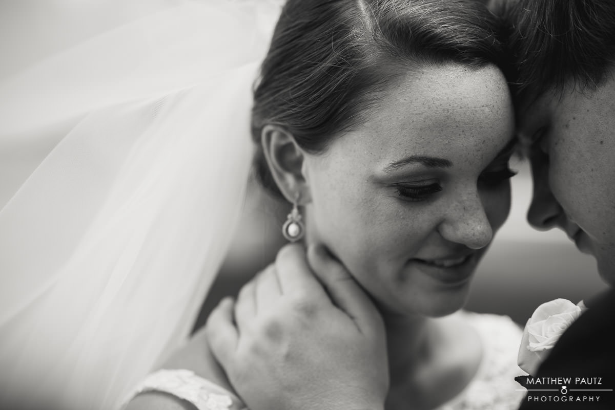 bride and groom couple's photos at Furman university