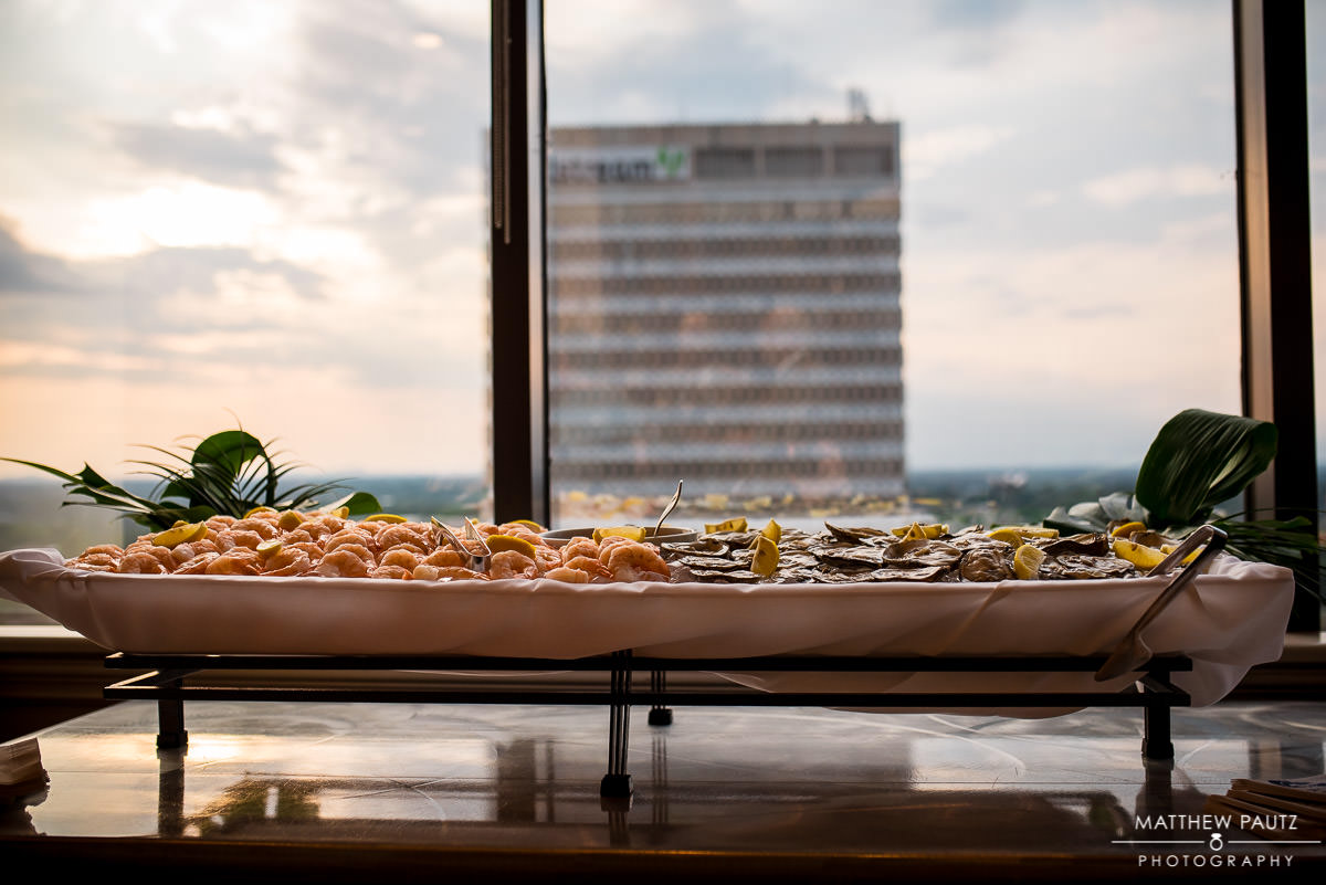 Oyster tray catering at Commerce Club Reception