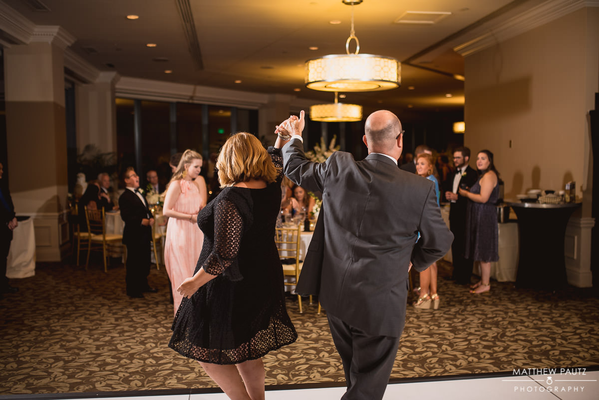 Wedding guests dancing at The commerce Club