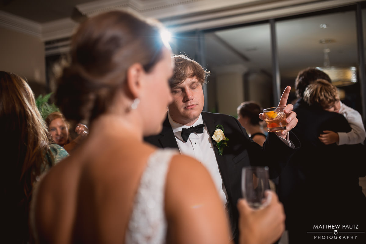 groom dancing at The Commerce Club
