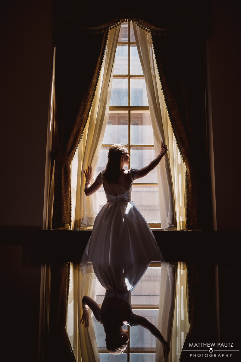 Bridal portrait at the westin poinsett hotel