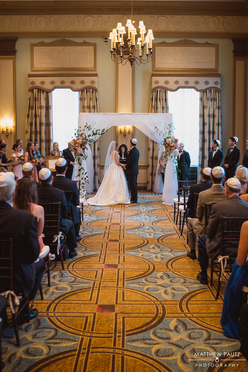 wedding ceremony at The Westin Poinsett Hotel